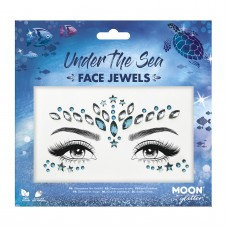 MOON GLITTER FACE JEWELS, UNDER THE SEA