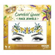 Moon Glitter Face Jewels - Carnival Queen