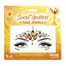Moon Glitter Face Jewels, Sunset Goddess